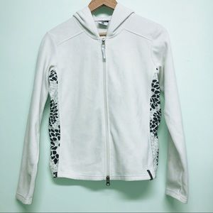Columbia Full Zip Creamy White Light Fleece Hoodie